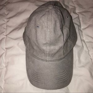 Light grey corduroy cap hat - new brandy melville
